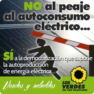 No al peaje al autoconsumo eléctrico