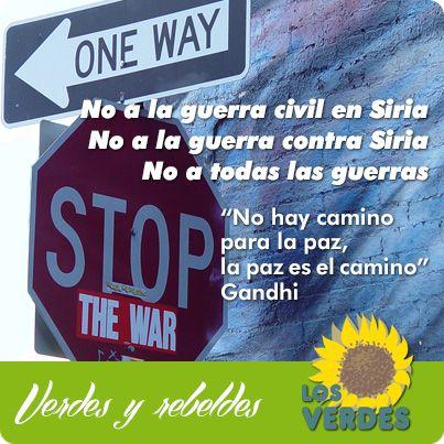 No hay camino para la paz, la paz es el camino. Gandhi