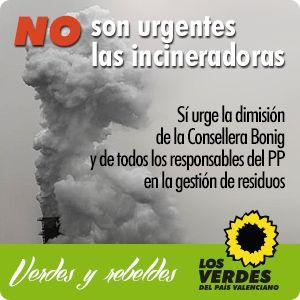 No a las incineradoras de residuos sólidos urbanos (RSU)