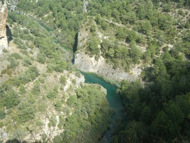 """El río Xúquer desde la """"Ventana del diablo"""" (Cuenca)"""