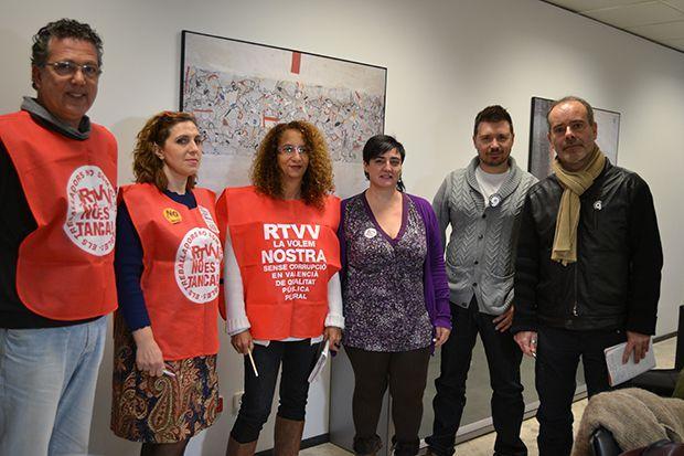 El Comité de empresa de RTVV lleva la situación del ente público al Parlamento Europeo