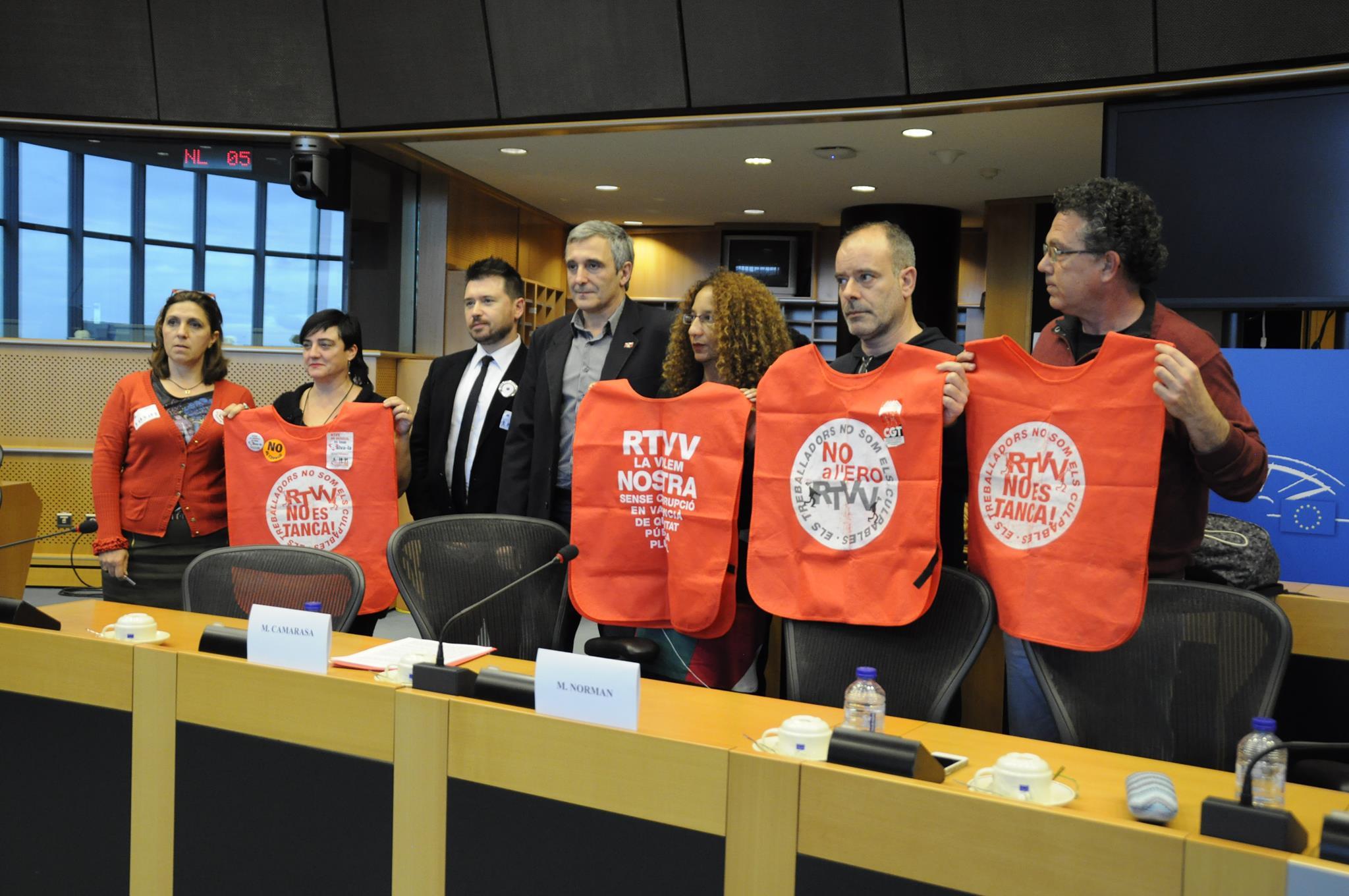 El tancament de RTVV es explicat al Parlament Europeu