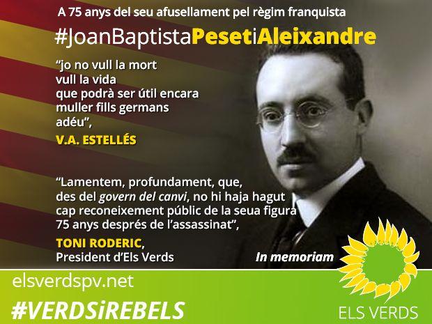 A 75 anys de l'afusellament de Joan Baptista Peset i Aleixandre pel règim franquista
