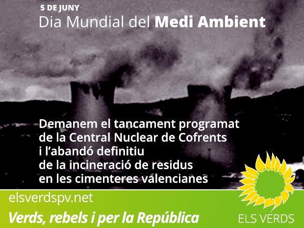 Els Verds davant del 5 de juny, Dia Mundial del Medi Ambient