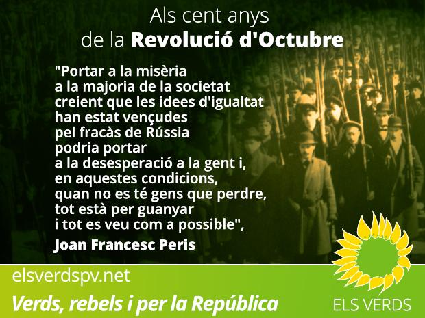 Als cent anys de la Revolució d'Octubre