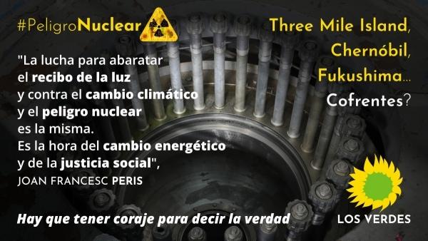 Los Verdes sí hablaremos del cierre de la Central Nuclear de Cofrentes por una política real contra el cambio climático